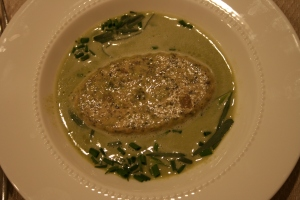 morel-custard-in-asparagus-soup