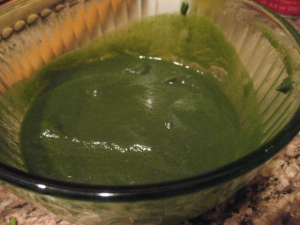 Pureed Sorrel and Spinach