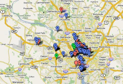 Click on the image to go to our Google map that locates every restaurant participating in DC's Summer Restaurant Week 2009.