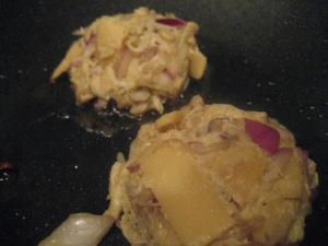 Crab Cakes in Wok
