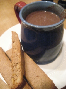 Hot Chocolate and Biscotti