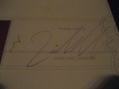Menu Signed