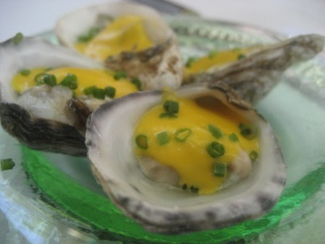 Oyster with Mango Lime Oil