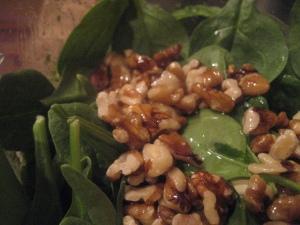 Spinach Walnuts Oil