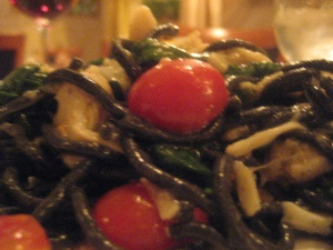 Squid Ink Pasta with Crab