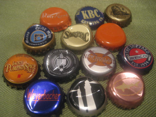 pumpkin beer caps