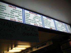 menu tdf