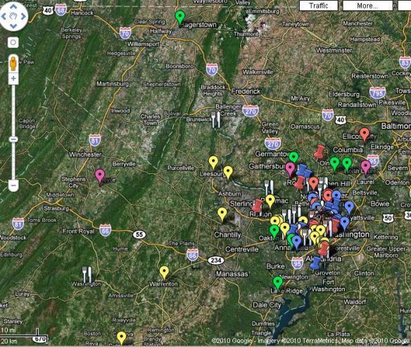 Dc Best Restaurants Map Capital Spice